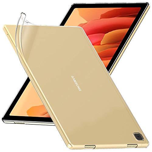 ebestStar - kompatibel mit Samsung Galaxy Tab A7 10.4 Hülle T505 (2020) Handyhülle [Ultra Dünn], Durchsichtige Klar TPU Schutzhülle, Flex Silikon, Transparent [Tab S7: 247.6x157.4x7 mm 10.4