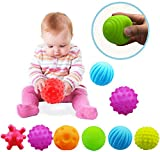 VintageⅢ 6pcs Baby Infant Sensory Balls Structured Multi Ball Set Massage Soft Ball