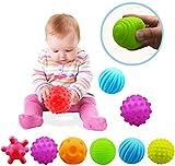 VintageⅢ 6pcs Baby Infant Sensory Balls Structured Multi Ball Set Massage Soft Ball