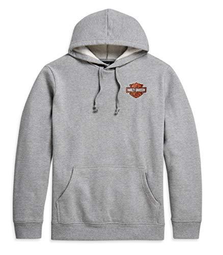 HARLEY-DAVIDSON Herren Kapuzenpullover Sweatshirt Hoodie Pullover mit Logo Grau, XXXL