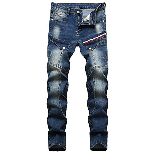 WQZYY&ASDCD Jeans Vaqueros Pantalon Vaqueros De Diseñador De Mezclilla Hombre Hip Hop Punk Streetwear 40Winch 93111
