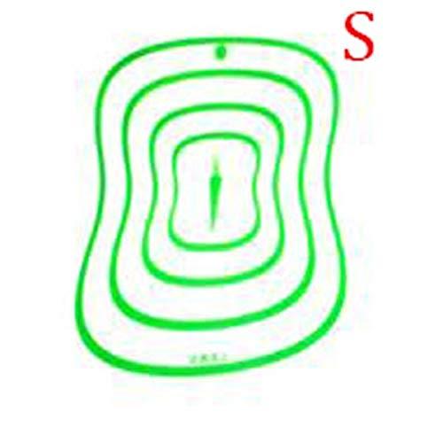 Accessoires de Cuisine Planche à découper en Plastique de qualité Alimentaire Transparent Planches à découper antidérapantes pour Viande Outil de Coupe de légumes - Vert S