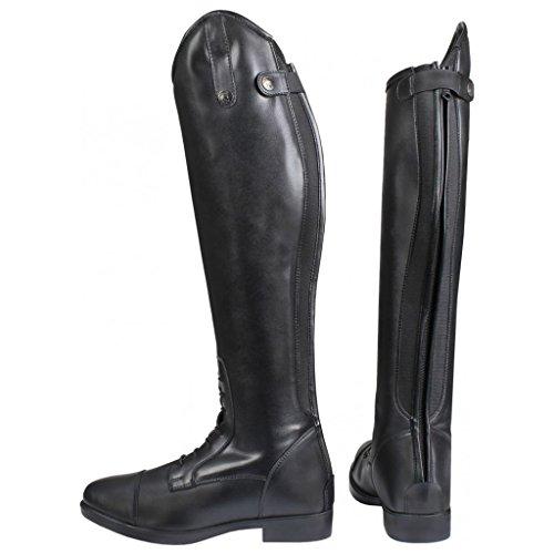 Horka Arlene Reitstiefel für Kinder, dehnbar, mit elastischen Seiten und Reißverschluss, Schwarz - Schwarz - Größe: 38.5 EU