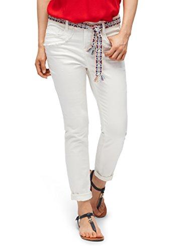 TOM TAILOR Damen Relaxed Tapered Ankle Straight Jeans, Weiß (White 2000), W32 (Herstellergröße: 32)