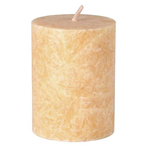 Bütic GmbH durchgefärbte Stumpenkerzen, Stearin-Kerzen in 50mm Durchmesser, Farbe:Creme, Größe:90mm hoch