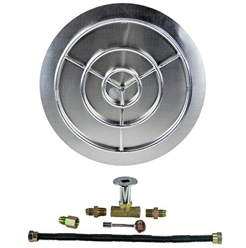 Dreffco (The Original 36' NG Stainless Steel Burner Pan with 30' Stainless Steel Ring Fire Pit Kit