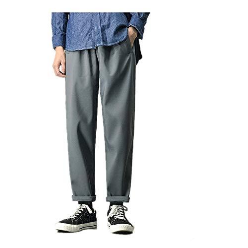 U/A Hombres Joggers Harén Pantalones Hombre Negro Algodón Cómodo Pantalón De Verano Casual Streetwear Suelto Pantalones Japonés