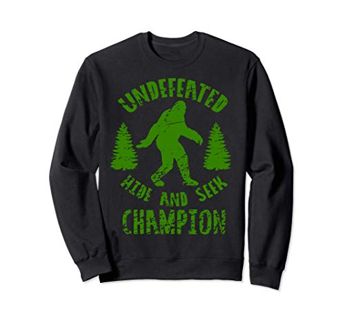 Bigfoot Funny Gift - Undefeated Hide And Seek Champion Sudadera