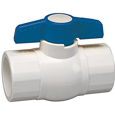 Homewerks VBV-P40-E4B Ball Valve, PVC Schedule 40, Solvent x Solvent, 3/4-Inch by Homewerks