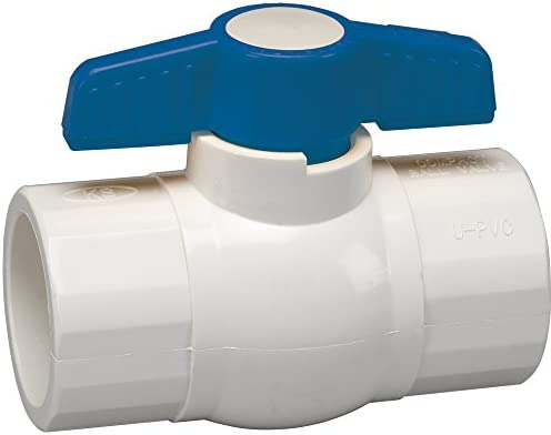 Homewerks VBVP40E3B Ball Valve PVC Schedule 40 x Solvent 1 2 Inch 0 5 Inch product image