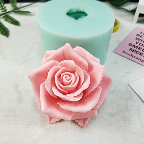 JNML Chocolade Kaars Schimmel 3D mooie bloem roos Siliconen Mal Boeket rozen Zeep Mallen Klei Hars Gips
