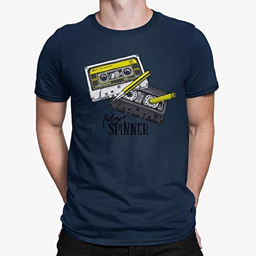 TeezoneDesign Heren T-Shirt Vergeet Spinner Oude School Muziek Speel Ontwerp Kleding Lijn