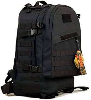Outdoor Military Tactical Backpack for Men - Nylon, Black