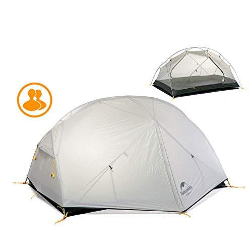 Mongar 2 Personne 3 Saisons Camping Tente Ultra Léger Tente Imperméable 20D en Silicone pour Randonnée Alpinisme(Gris)