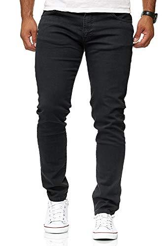 Redbridge Hommes Denim Jeans Coupe Slim Chino de Base Occasionnels Pantalon,Noir,30W / 32L