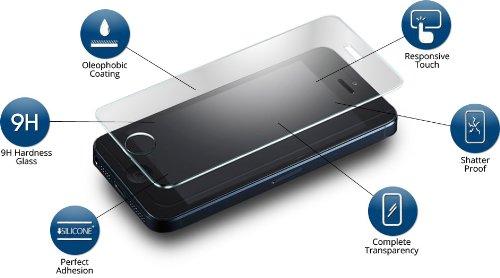 Service4Handys Panzerglas Schutzfolie perfekt für iPhone 7/8 - splitterfreies Sicherheitsglas - transparente Displayschutzfolie - 9H Bildschirmstärke