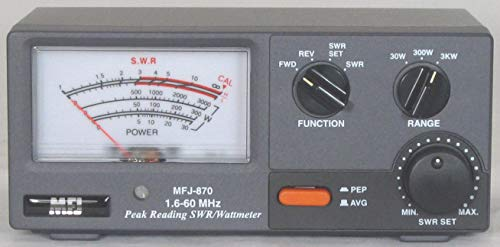 MFJ-870 SWR meter, 1.8-60MHz, 30/300/3000W. Buy it now for 102.39