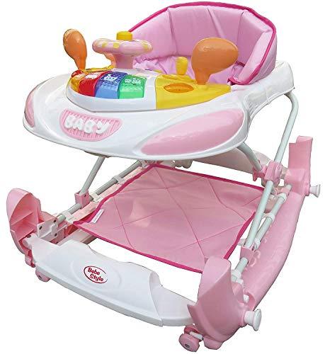 Bebe Style Lauflernhilfe & 2in1 Baby Gehhilfe + Babyschaukel im Rennwagen Look – Laufwagen & Walker zum Laufen lernen