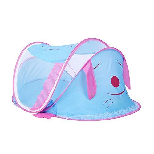 Willlly Lit De Voyage pour Bébé Doux Casual Chic Et Pliable Portable Lit Pop Up Moustiquaire Parasols Ultra Léger Poids Bleu (Color : Colour, Size : Size)