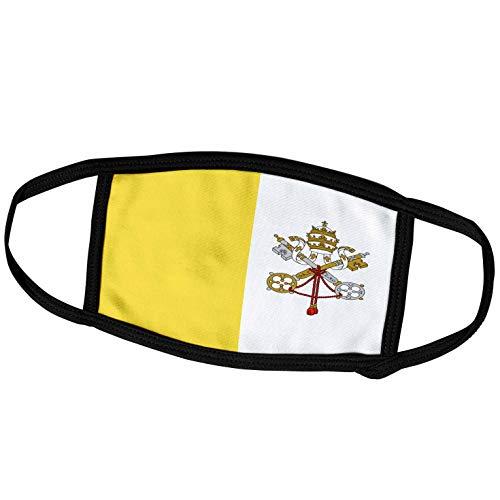3dRose fm_211406_2 Face Mask Medium Gesichtsmaske, Polyester, Flagge Vatikanstadt