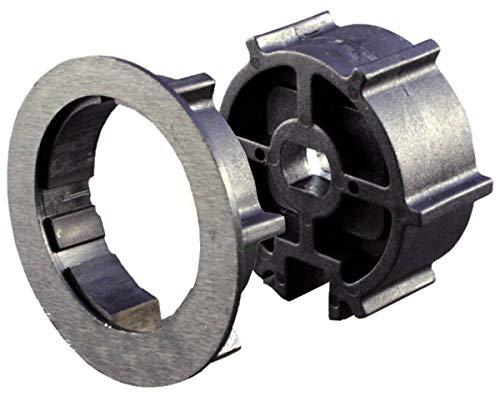 Schellenberg 27800 Adapterset für Markisenwellen mit Nut, 65 mm Durchmesser, Adapter zu Markisenantrieben