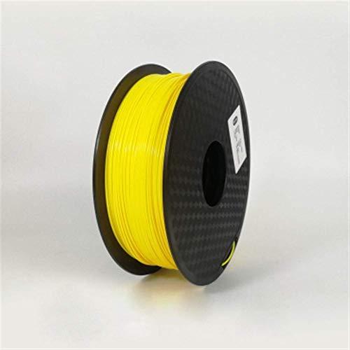 3D Printing Filament TPU Flexible Filament TPU filament Plastic for3D Printer 1.75mm Printing Materials Gray Black Red Color toughness (Color : Blue) GDSZMML (Color : Yellow)