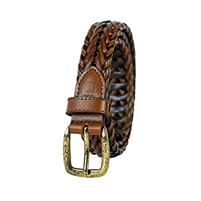 "Chaps Big Boy's 1"" Casual Braid Belt brown, Small (22-24)"
