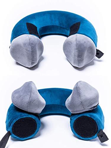 Pieceful Pillow – 3-Piece Memory Foam Travel Neck Pillow Includes 2 Soft Detachable Mini Pillows