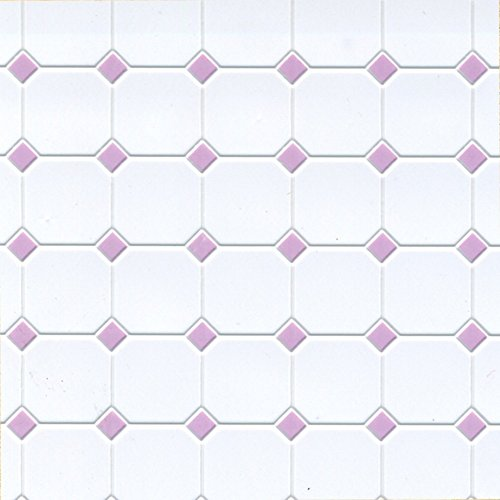 Dollhouse Miniature Square Tile Flooring in Lilac Diamond