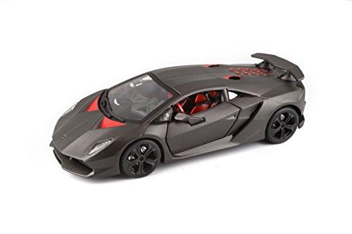 Bburago 18-21061 - Lamborghini Sesto Elemento, Colore: grigio metallizzato