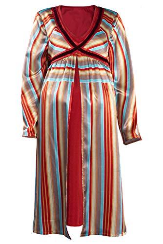 Vestido de bruja escarlata Wanda Maximoff Cosplay Disfraz de embarazo Vestidos para mujer de seda a rayas pijama, Rayas., XL