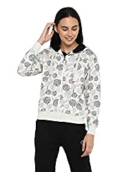 Alan Jones Womens Cotton Zipper Hooded Sweatshirt