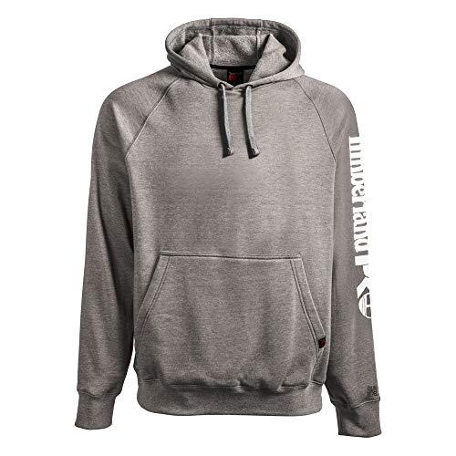 Timberland PRO Mens Hood Honcho Sport Pullover Sweatshirt Dark Charcoal HeatherWhite Large