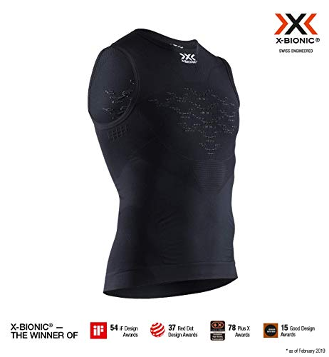 X-Bionic Energizer 4.0 Light Singlet Men, T Shirt Uomo, Opal Black/Arctic White, L