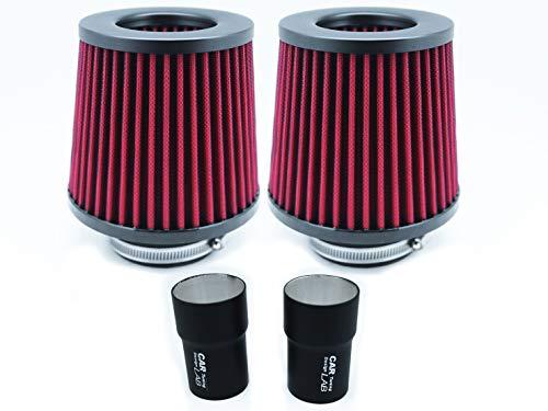 CarLab B-Turbo N54 DCP Kit d'admission de filtre à air double cône pour E90 E92 E93 Série 3 E87 Série 1 N54