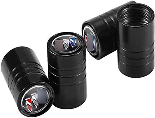 Tapones de válvula de 4 piezas, tapones de polvo de válvula de neumático y neumático para el estilo de coche Bui-ck Regal Hideo Encore lacrosse GL8 Excelle XT Verano