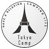TokyoCamp オリジナルロゴステッカー 丸型 ホワイト