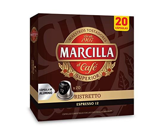 Marcilla Café Ristretto - 200 cápsulas compatibles con máquinas Nespresso*® (10 paquetes de 20 unidades)