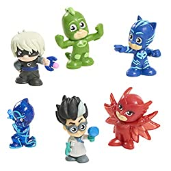 Each pocket-sized figure is the perfect addition for any PJ Masks collection. Bring home Catboy, Owlette, Gekko, Night Ninja, Romeo, and Luna Girl Ages 3+ Model number: PJMC4000