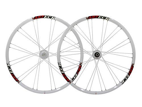 TYXTYX Juego de Ruedas de Bicicleta MTB, Rueda de Bicicleta de montaña de 26 Pulgadas, Freno de Disco, llanta de aleación de Doble Capa, Casete de liberación rápida de 7-11 velocidades