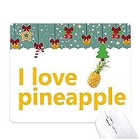 フルーツパイナップル ゲーム用スライドゴムのマウスパッドクリスマス