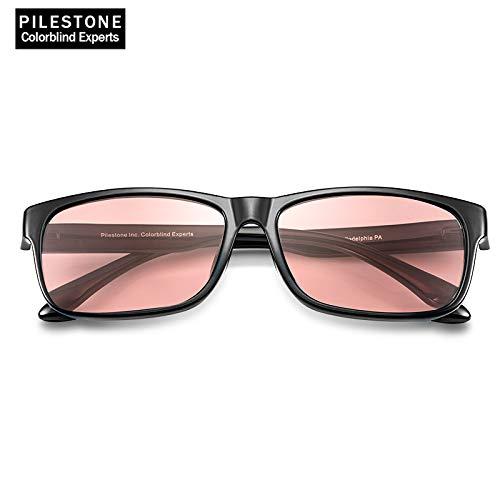 PILESTONE TP-021 (Tippe A) farbenblinde gläser Color Blind Korrekturbrille für rote / grüne Farbenblindheit - Mildes, mäßiges und starkes Deutan und mildes, mäßiges Protan (Innenanwendung)