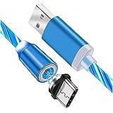 Câble USB magnétique C Cordons Lumineux de Charge Rapide magnétique 1M / 2M avec lumière LED...