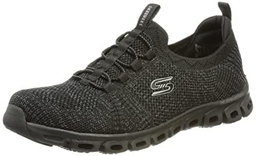 Skechers Glide-Step Grand Flash, Zapatillas Mujer, Black, 38.5 EU