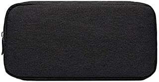 YINUO Netbook Bag Multi-Functional Headphone Charger Data Cable Storage Bag Power Pack, Size: L, 23 x 11.5 x 5.5cm(Black)(Grey) (Color : Black)