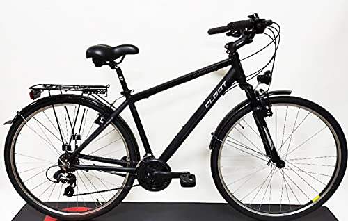 CLOOT Bicicleta Hibrida-Bicicleta Trekking Adventure 7.1 Cuadro Aluminio 6061 con Horquilla 50mm y Cambio Sunrun 21V
