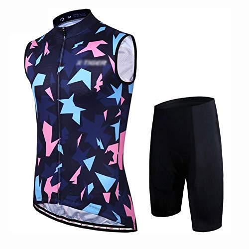 YXX Maillot Ciclismo Hombre Sin Mangas Camiseta Interior Camiseta Compresión Sin Mangas...
