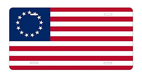 Betsy Ross American Flag License Plate Revolution 13 Stars USA Tin Sign 12' X 16' Home Wall Decoration