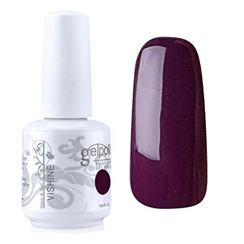 Vishine Vernis à ongles Semi-permanent GelPolish Soak-off UV LED Manucure Vernis Gels Prune (1417)