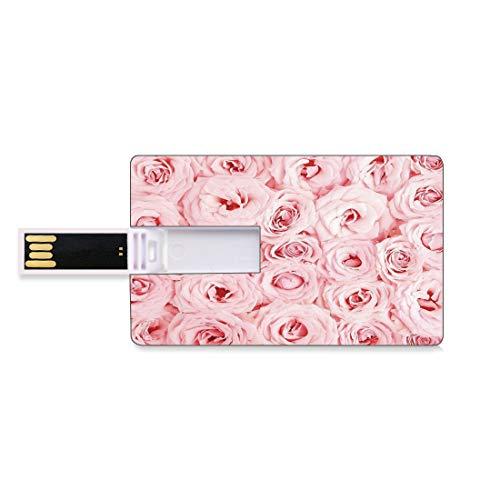 128G Unidades flash USB flash Rosa Forma de tarjeta de crédito bancaria...